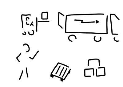 Truck Drawing - Forwarding Agent Logistics Forwarding Agency by Lineamentum