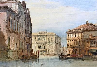 Venice Ca Painting - Foscari On The Grand  by William Callow