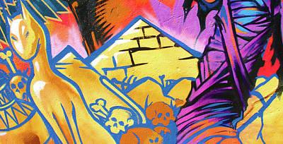 Found Graffiti 28 Cat Print by Jera Sky