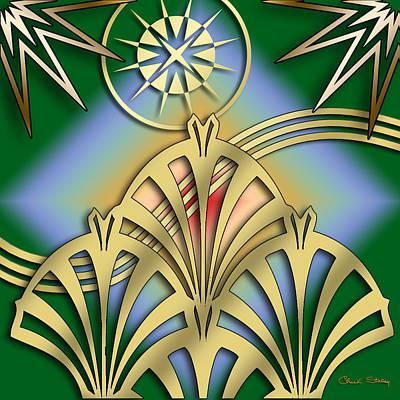 Digital Art - Fountain Design 3 - Chuck Staley by Chuck Staley