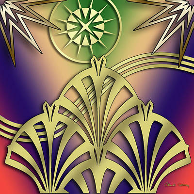 Digital Art - Fountain Design 4 - Chuck Staley by Chuck Staley