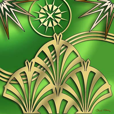 Digital Art - Fountain Design - Chuck Staley by Chuck Staley