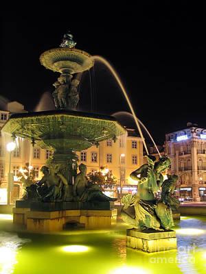 Mermaid Photograph - Fountain In Rossio Square by Jose Elias - Sofia Pereira