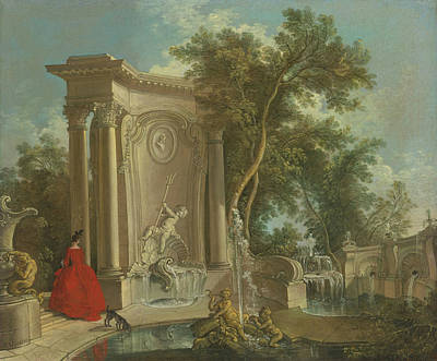Jacques Painting - Fountain by Celestial Images