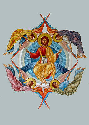 Transfiguration Painting - Four Angels Ascension by Munir Alawi