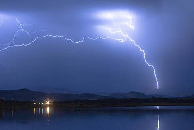 Lightning Images Photograph - Four Cylinder Sky Spark by James BO  Insogna