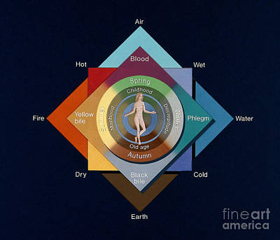 Four Elements, Ages, Humors, Seasons Print by Wellcome Images