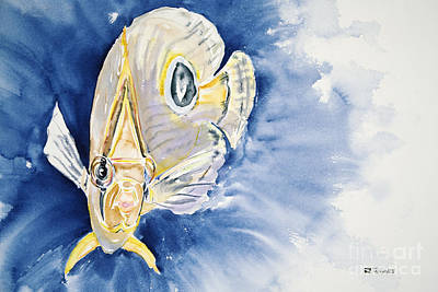 Sealife Art Painting - Four Eyes At Ya by Tanya L Haynes - Printscapes