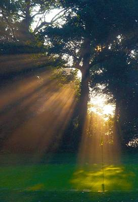 Sun Rays Photograph - Four Green Sunrise by Edwin Voorhees