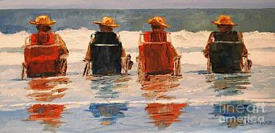 Painting - Four Hats by Keith Wilkie