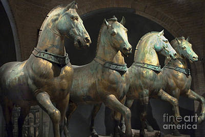 Four Horses Of San Marco Original by Jon Cretarolo