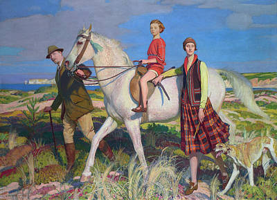 Women Painting - Four Loves I Found A Woman A Child A Horse And A Hound by George Spencer Watson