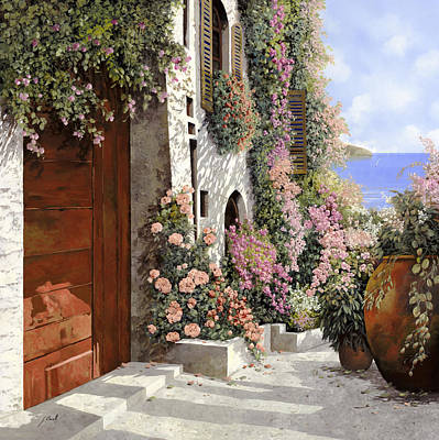 Four Painting - four seasons- spring in Tuscany by Guido Borelli