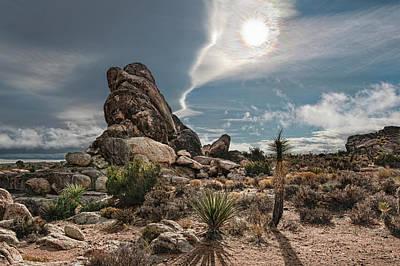 Joshua Tree Photograph - Four Way Clouds by Gary Zuercher