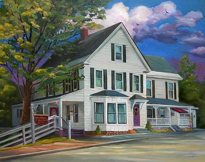 Fournier Painting - Fournier Funeral Home by Nancy Griswold