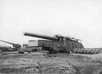 Artillery Photograph - Fourteen Inch Gun by Underwood Archives