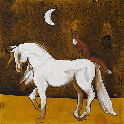 Fox And Horse Original by Sophy White