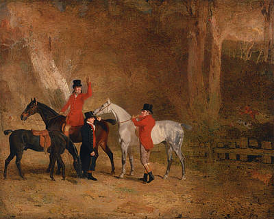 Red Fox Painting - Fox Hunting Scene by Mountain Dreams