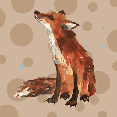 Fox Painting - Fox Painting by Alison Fennell