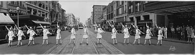 Fox Roller Skating Girls Washington Dc 1929 Print by Panoramic Images