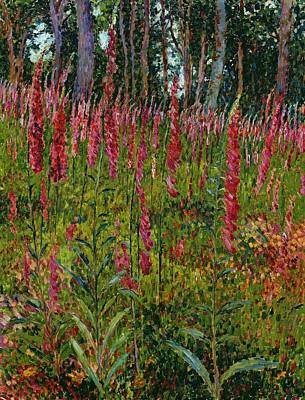 Foxgloves Print by Georges Lacombe