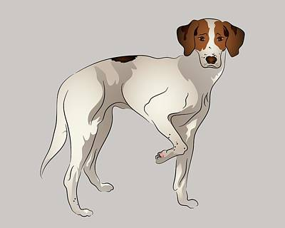Foxhound Print by MM Anderson