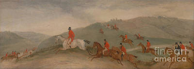 Foxhunting - Road Riders Or Funkers Print by Celestial Images
