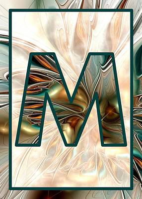 Fractal - Alphabet - M Is For Magic Print by Anastasiya Malakhova