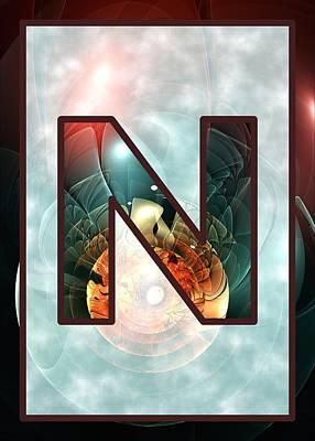 Geek Digital Art - Fractal - Alphabet - N Is For Night Vision by Anastasiya Malakhova