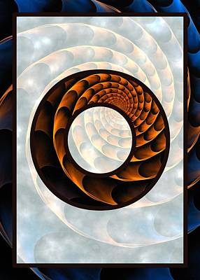 Abstract Mixed Media - Fractal - Alphabet - O Is For Out Of Reach by Anastasiya Malakhova