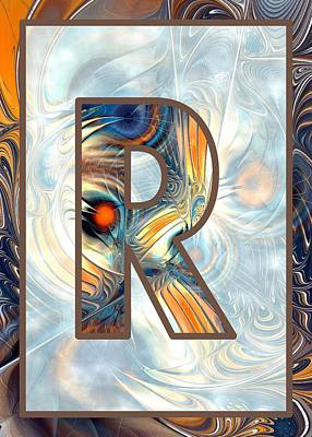 Self Digital Art - Fractal - Alphabet - R Is For Randomness by Anastasiya Malakhova