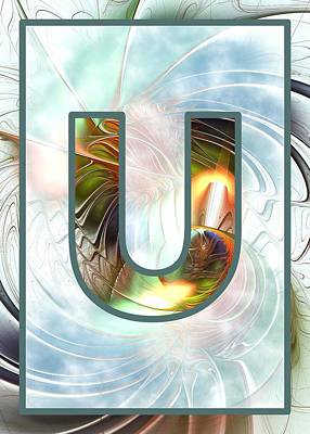 Fractal - Alphabet - U Is For Unity Print by Anastasiya Malakhova
