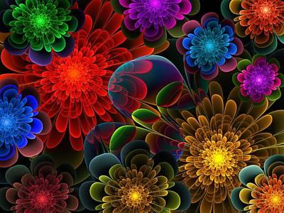 Apo Digital Art - Fractal Bouquet by Lyle Hatch