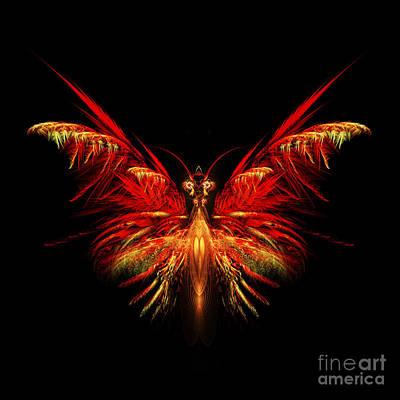 Fractal Digital Art - Fractal Butterfly by John Edwards