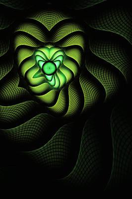 Cobra Digital Art - Fractal Cobra by John Edwards