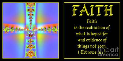 Fractal Faith Hebrews 11 Print by Rose Santuci-Sofranko