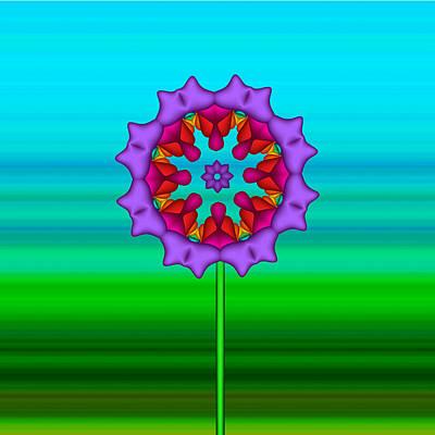 Mandela Digital Art - Fractal Flower Garden Flower 02 by Ruth Moratz