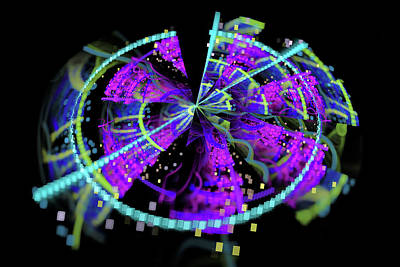 Abstract Digital Art - Fractal Time Warp by Matthias Hauser