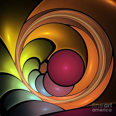 Red Digital Art - Fractal With Orange, Yellow And Red by Issabild -