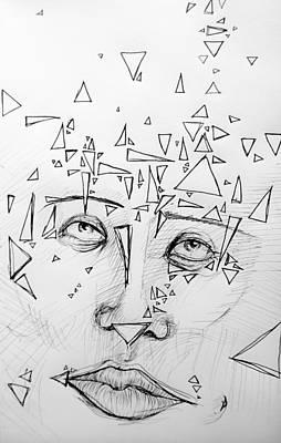 Abstract Shapes Drawing - Fragments  by Holly Magar