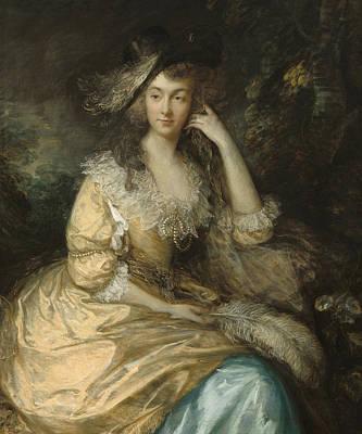 Upper Classes Painting - Frances Susanna Lady De Dunstanville by Thomas Gainsborough