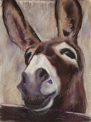 Burro Painting - Francis by Billie Colson