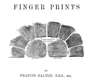 Book Title Photograph - Francis Galtons Fingerprints, 1892 by Wellcome Images