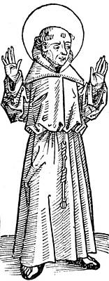 Religious Drawing - Francis Of Assisi  by German School