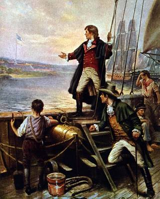 Francis Scott Key, 1779-1843 Awakes Print by Everett