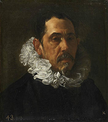 Beard Painting - Francisco Pacheco by Diego Velazquez