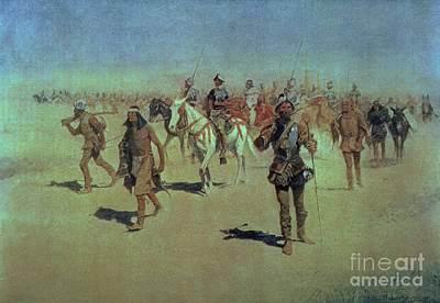 Remington Painting - Francisco Vasquez De Coronado Making His Way Across New Mexico by Frederic Remington