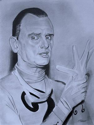 Riddler Drawing - Frank Gorshin The Riddler by Robert Steen