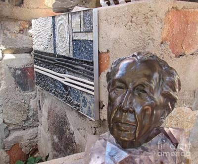 Frank Lloyd Wright Bust Original by Allen Meyer