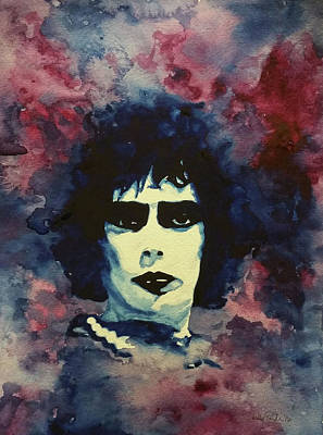 Tim Curry Painting - Frank by Shelly Denning